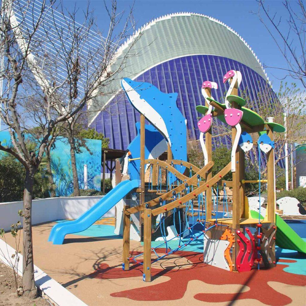 Mobiliario parques infantiles ISABA