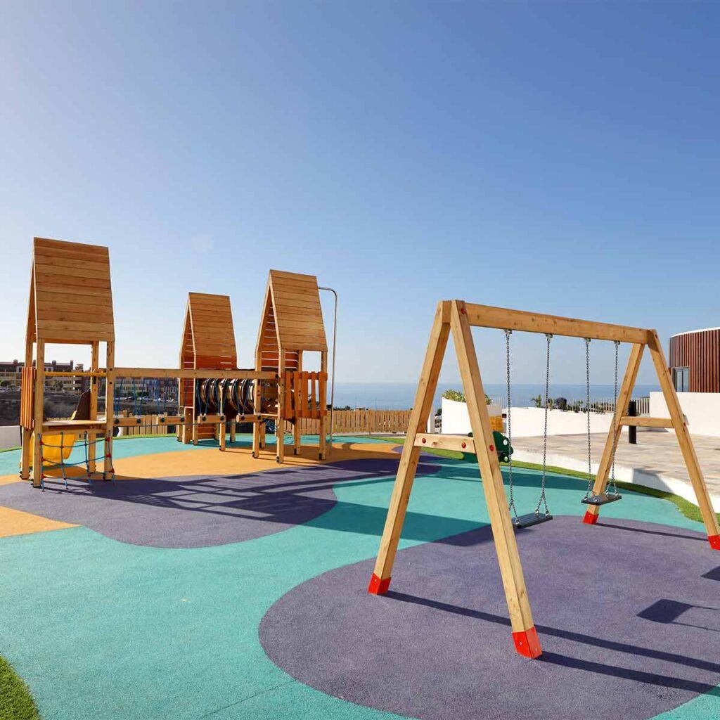 Mobiliario parques infantiles homologados para exteriores ISABA